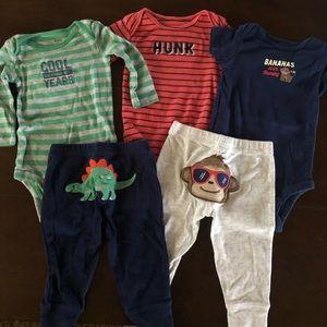 Baby boys matching set bundle- 6 months